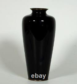 Beau Vase Japonais Meiji Cloisonne Signé Ki Ou Moku