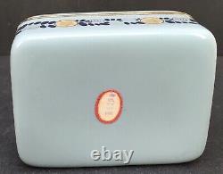 Boîte De Cloisonne En Fil D'argent Meiji Fine Japonaise De Ando