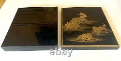 Boîte De Laque Japonaise Avec Décoration Fine Maki-e Période Meiji