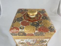 Boîte Japonaise Très Fine De Satsuma Avec La Couverture, Période De Meiji, Circa 1890