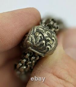 Chaîne Japonaise Antique De Dragon Pour La Poche De Tabac Meiji Période Fine C19ème