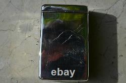 Étui À Cigarettes Argent Sterling Japonais Fin Ca. 1960's -rare Pagode Design