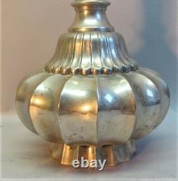 Fine 19ème C. Japanese Meiji-era Silvered Bronze Vase C. 1920 Antique