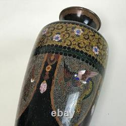 Fine Antique Japonais Meiji Période Cloisonne Vase 6