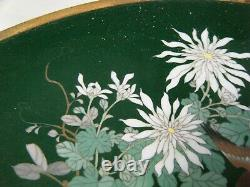 Fine Antique Silver Wire Et Wireless Meiji Japonais Cloisonne Chargeur Exc Cond