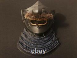 Fine Antique / Vieux Japonais Samurai Menpo Armor -mempo Masque