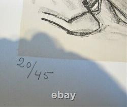 Fine Et Rare Tsugouharu Foujita Lithographie Japonaise 55 X 44 Signé Et Numéroté