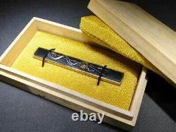Fine Flag & Saihai Kozuka 18-19thc Japonais Edo Samurai Koshirae Tsuba Antique