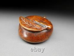 Fine Fruit & Chestnut Netsuke 18-19thc Japonais Edo Antique Pour Inro F760