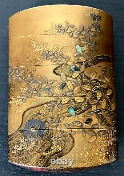Fine Japanese Lacquered Inro Par Kajikawa