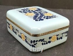 Fine Japanese Meiji Silver Wire Cloisonne Box Par Ando