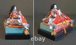 Fine Japonais Meiji Époque Empereur - Poupées Impératrice Sur Le Stand