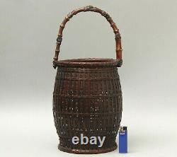 Fine Japonaise Ikebana Bamboo Basket T16