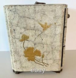 Fine Japonaise Meiji Antique Lacquer Portable Chest / Boîte À Bijoux