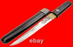 Fine Kwaiken Japonaise / Aikuchi Lady's Dagger Signé Koto Blade Avec Horimono