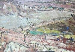 Fine Originale Japonese Oil Painting De Toyko Kendo Yajima C. 1959 Nichido Gal
