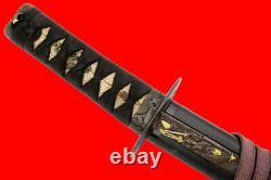 Fine Qualité Japonais Samurai Wakizashi Épée Avec Lame Rare Tang & Nice Hamon