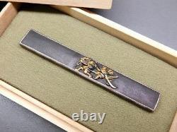 Fine Samurai Kozuka 18-19thc Japonais Edo Samurai Katana Koshirae Antique F868