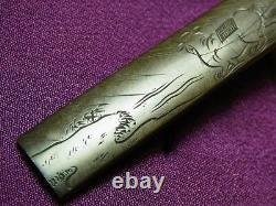 Fine Signé Farmer Kozuka 18-19thc Japonais Edo Antique Pour Koshirae F701