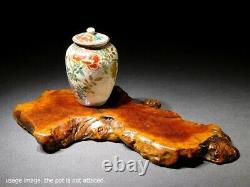 Fine Vintage Picdestal En Bois Naturel Pour Petit Vase Statue Pot Bonsai Art Japonais