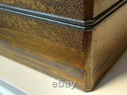 Grande Boîte De Laque Japonaise Antique Fine Tôt Période D'edo