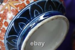 Grande Paire De Vases D'oiseau Imari Double Gourd Peints À La Main Japonais