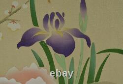 Japanése Painting Hanging Scroll Photo De Fleur De Pivoine Japon Fine Vintage Art U71