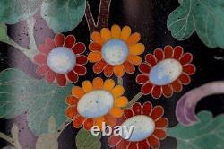 Jolie Paire De Vases De Cloisonne Japonaises Anciennes