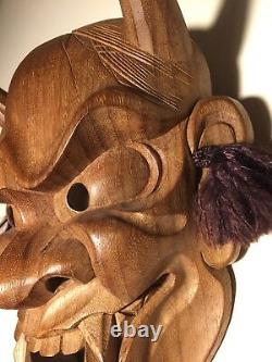 Les Beaux-arts Japonais, Masque Hannya, Bois Yakusugi, Signé Yamanaka Unesco