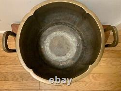 Navire De Bronze Japonais Qilin Phoenix Pattern Fine Copper Fire Bowl Murata Seimin