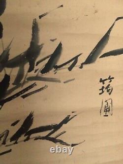Peinture Japonaise Antique D'encre D'époque D'edo Après Que Miyazaki Kinpo A Signé Les Beaux-arts