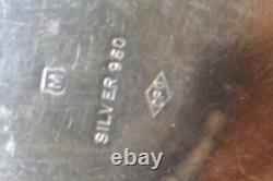 Porte Bougie Mikimoto Vintage Japonais 950 Fine Sterling 354,5 Grammes