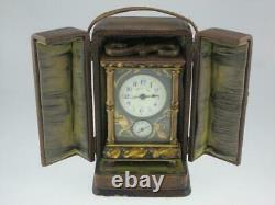 Rare Antique Fine 19ème Siècle Français Horloge Japonaise De Chariot