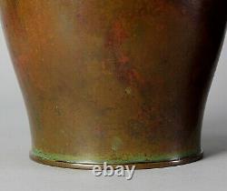 Très Belle Grande Paire Japonaise Vase En Bronze Signé Par L'artiste Bien Connu Y20