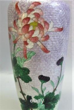 Très Fin 6 Vase Japonais Meiji-era Cloisonne Avec Design Floral C. 1880 Antique