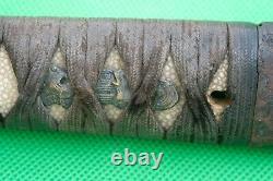 Tsuka Japonais Antique Fine Pour Tanto Wakizashi Samurai Épée Koshirae