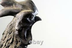 Un Beau Coq Japonais De Figure De Bronze D'époque De Meiji Du 19ème Siècle