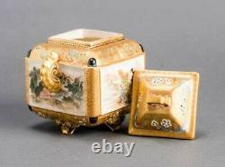 Un Brûleur D'encens Japonais Antique Finement Peint, Bizan, Période Meiji
