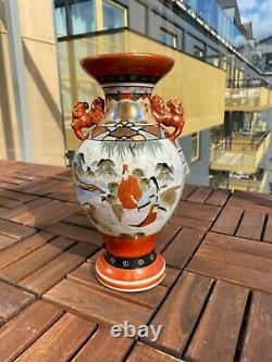 Un Meiji Japonais Fin Et Grand (1868-1912) Vase En Porcelaine Kutani Pièce Maîtresse