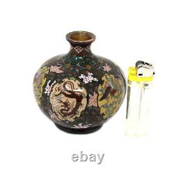 Vase Cloisonne Japonais Extrêmement Fin Att. Namikawa Yasuyuki