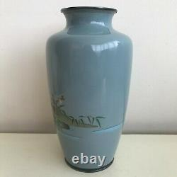 Vase D'époque D'émail D'émail Japonais Antique Fin De Cloisonne