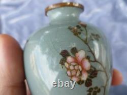 Vase De Cloisonne Japonais Antique Fin De Diminutif Circa 1900 Tel Qu'est