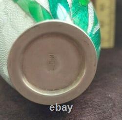 Vase Fine Antique Japonais Cloisonné Tsuiki-jippo Par Kawaguchi, Bawzaemon 3.5