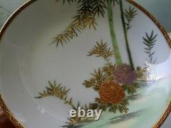 Vintage Kutani Japonais Fine Porcelain Dinner Set Service Pour 8 59 Pièces