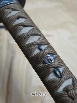 Œuvres D'or Koshirae Blade Fine Blade Antique Wakizashi Sword Samurai Japonais Japon